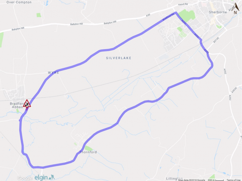 Map of road closure and alternative route